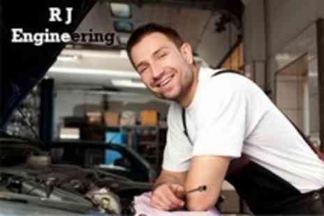 RJ Engineering - 62 Point Car Service With Oil and Filter Change and Mini Valet - Save 68%