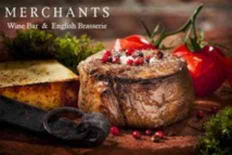 Merchants Wine Bar - Seasonal Main Course and Bottle of Wine For Two - Save 64%