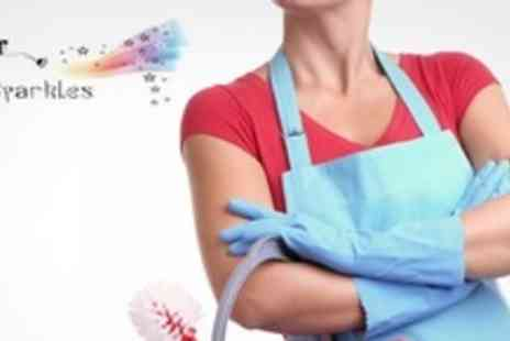 Mrs Sparkles Cleaning Services - Domestic Clean Including Two or Three Bedrooms - Save 63%