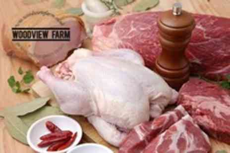 Woodview Farm Shop - Meat and Eggs Hamper Including Pork Loin, Sausages and Lamb Mince - Save 51%