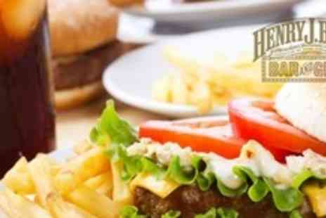 Henry J Beans - American Style Burger Meal For Two With Cocktail Pitcher - Save 60%