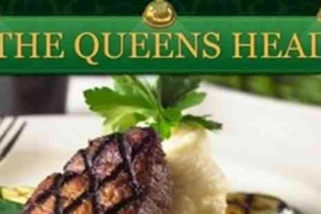 The Queens Head - Two Courses of Indian Cuisine For Two With Rice, Poppadoms, Coffee and Liqueur - Save 63%