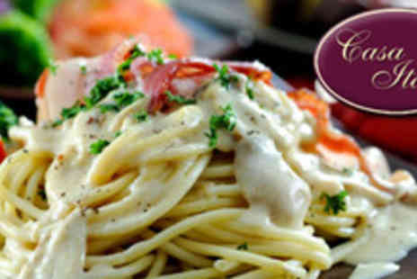 Casa Italia - £18.30 instead of £45.80 for Meal for 2 with Sides including Pizza, Pasta and Filet Steak - Save 60%