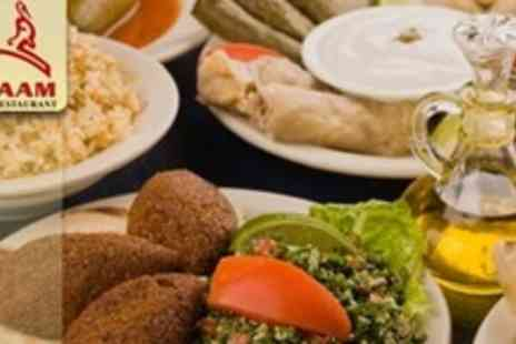 Karaam - Six Plates of Authentic Lebanese Cuisine For Two With Wine - Save 61%