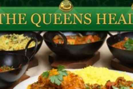 The Queens Head - Two Courses of Indian Cuisine For Two With Rice, Naan Bread, Poppadoms - Save 63%