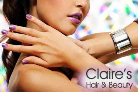 Claire�s Hair & Beauty - Gel Manicure and Gel Overlay Pedicure for £20 - Save 60%