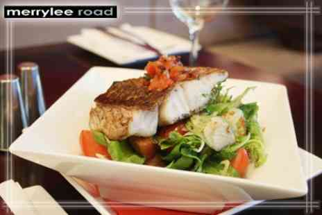 Merrylee Road Bar and Kitchen - Two Course Meal for Two With Glass of Wine Each - Save 58%