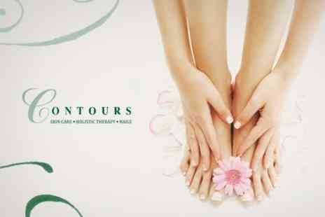 Contours Beauty Salon - Jessica Manicure or Pedicure or Shellac Nails Plus Jessica Pedicure - Save 58%
