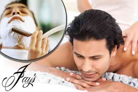Jay's Male Grooming - Hot Towel Shave With Back and Shoulder Massage - Save 52%