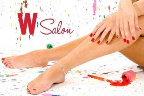 W Salon - Gel Manicure or Pedicure - Save 55%