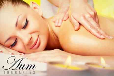 Aum Therapies - Massage, Facial and Spa Access For One (£36) or Two (£67) - Save 0%