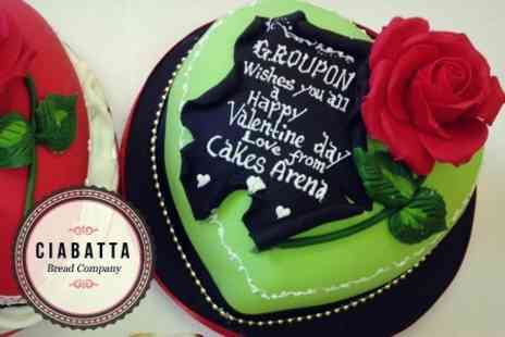 "The Ciabatta Bread Co. - 9"" Personalised Celebration Cake for £19 from - Save 58%"