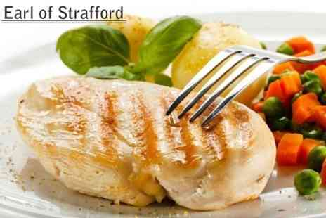 The Earl of Strafford - Two Courses of Traditional British Food With Hot Drinks For Two - Save 58%