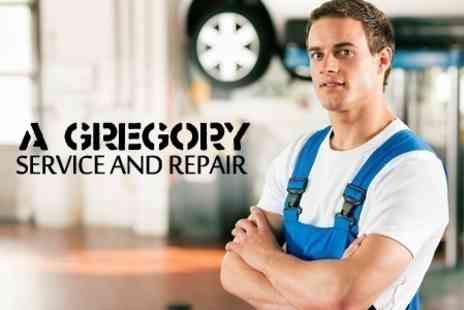 A Gregory Service and Repair - Car Health Check With Oil and Filter Change Plus Puncture Repair Plan - Save 35%