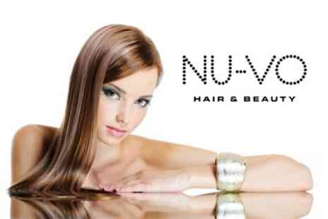 Nu-Vo Hair and Beauty - Half Head Highlights or Full Head Colour With Cut and Blow Dry - Save 65%