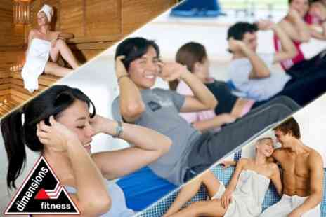 Dimensions Fitness - 24 Indoor Boot Camp Sessions or 12 Gym Day Passes - Save 52%