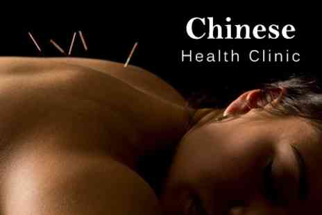 Chinese Health Clinic - Acupuncture and Choice of Massage With Ear Candling or Cupping Therapy - Save 52%