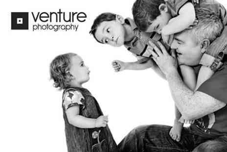 Venture Photography - Family Photoshoot With Framed Photo - Save 94%