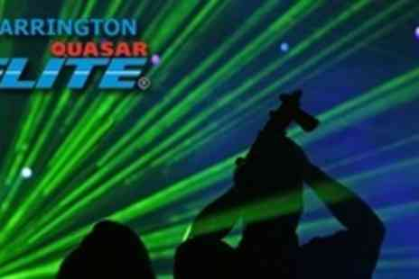 Warrington Quasar Elite - Three Back to Back Quasar Laser Tag Games For Four - Save 63%