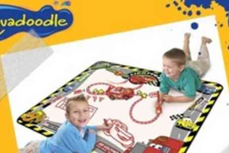 Tomy - Disney Cars Aquadoodle Mat With Lightning McQueen Car, Drawing Pen, and Road Roller - Save 50%