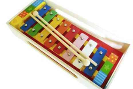 Bee Smart - My First Musical Instrument  colourful, wooden xylophone - Save 50%