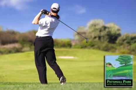 Patshull Park Hotel - Golf For Two With Refreshments and Two Course Meal for £40 - Save 65%