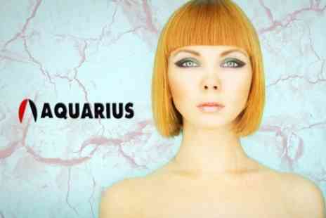 Aquarius Hair and Beauty Salon - Half Head Highlights or Full Head Colour With Cut and Finish - Save 66%