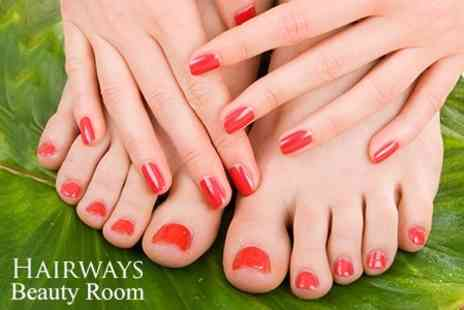 Hairways - Shellac Mini Manicure and Pedicure - Save 50%