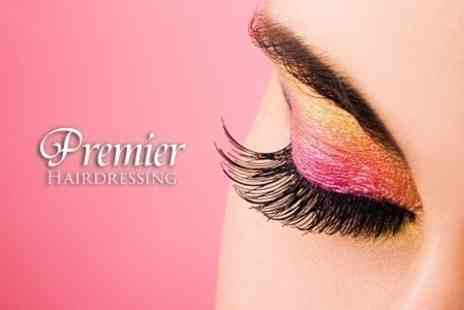Premier Hairdressing - Full Set of Individually Applied Eyelash Extensions Plus Eyebrow Tint - Save 76%