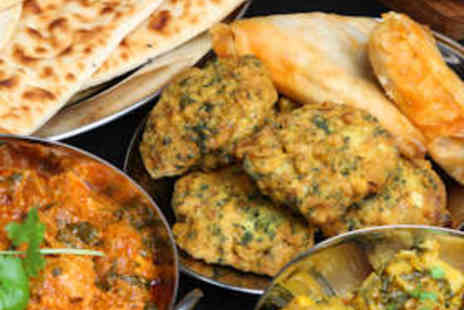 Mother India Restaurant - Starters, Mains, Rice and Naan, and Wine for Two - Save 63%