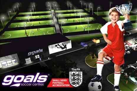 Goals Soccer Centre - Childrens Football Party For Ten with Food and Drinks - Save 64%