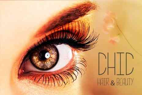Chic Hair and Beauty - AH Francis Eyelash Extensions Half Set With Eyebrow Shape and Tint - Save 61%