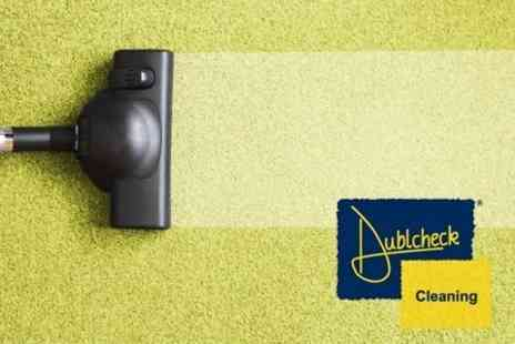 Dublcheck Cleaning - Cleaning For Three Piece Suite or Carpets in Two Rooms and a Hallway - Save 72%