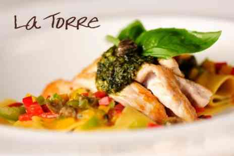 La Torre - Italian Fare Two Courses With Coffee and Limoncello For Two With Wine Option - Save 60%