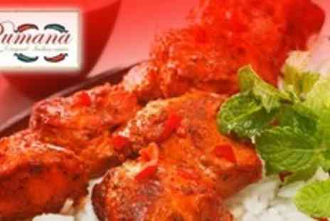 Rumana Original Indian Cuisine - Two Course Indian Meal For Two - Save 67%