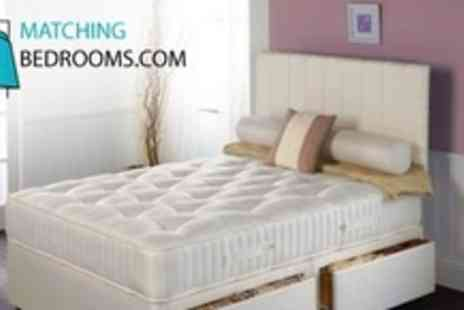 MatchingBedrooms.com - Two Single, Double, King, or Super King Pocket 1000 Spring Mattresses - Save 81%