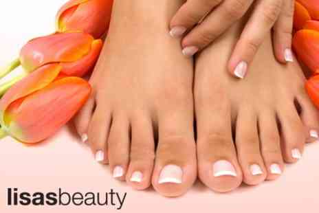 Lisa's Beauty - Deluxe Manicure and Pedicure Plus Eyebrow Shape and Lash Tint for £30 - Save 65%