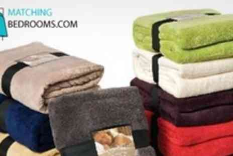 MatchingBedrooms.com - Snuggle Touch Microfibre Throws in Large - Save 50%