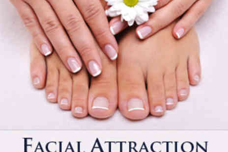 Facial Attraction - Manicure & Pedicure including Hand & Foot Massage - Save 63%