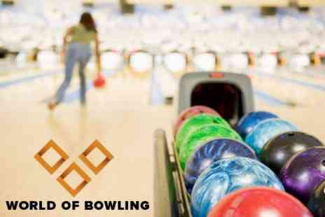 World Of Bowling - One Hour of Bowling Play For Up to Six Plus Pizza - Save 67%
