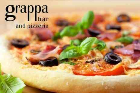 Grappa Bar - Antipasti Platter With Pizza and Wine For Two - Save 63%
