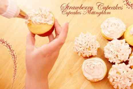 Strawberry Cupcakes - Cupcake Decorating Class For One With Gift Box - Save 82%