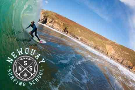 Newquay Surfing School - Surfing Lesson With Board and Wetsuit Hire For One - Save 53%