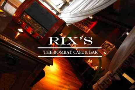 Rixs Bombay Cafe and Bar - Five Course Dining Experience For Two - Save 66%