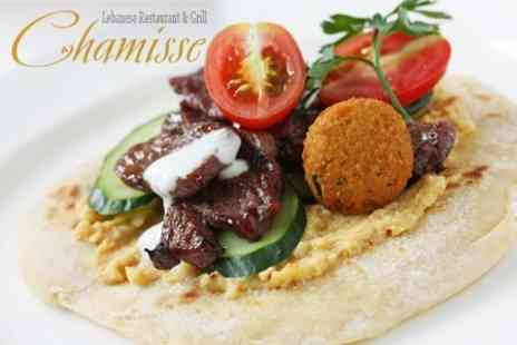 Chamisse - Two Course Vegan Mezze Meal For Two With Wine - Save 48%