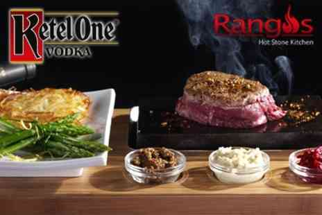 Rangos - Two Course Hot Stone Steak For Two With After Dinner Cocktails - Save 56%