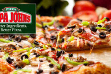 Papa Johns - £10 for any 2 x Take Away Medium Speciality Pizza or Create your Own with 4 Toppings - Save 63%