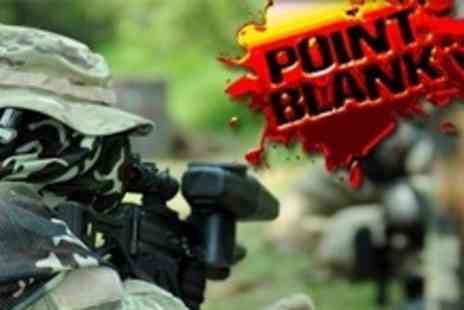 Point Blank - £10 for Paintball Experience For Up to Ten People With 100 Paintballs and BBQ Lunch Each - Save 90%
