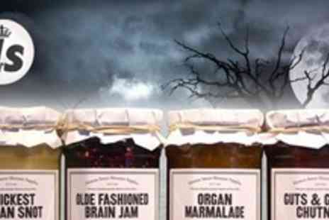 Monster Supplies - Three Horror Themed Preserves Including Olde Fashioned Brain Jam for £7.50 - Save 50%