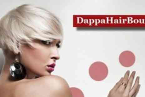Dappa Hair Boutique - Haircut and Bumble & Bumble, Philip Kingsley or MOROCCANOIL Conditioning Treatment for £23.50 - Save 62%